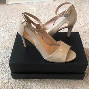 Franco Sarto Heel | Nude, Patent Leather